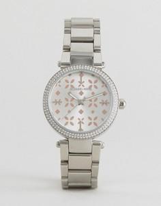 Серебряные часы с деталями из розового золота Michael Kors Mini Parker - Серебряный