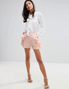 Шорты с оборками Fashion Union - Розовый