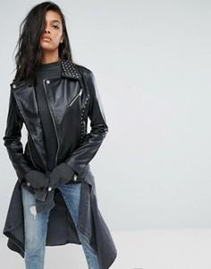 Байкерская куртка с заклепками Barneys Originals - Черный