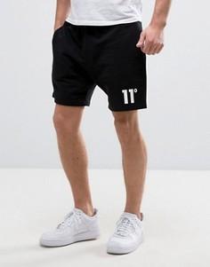 11 Degrees Shorts In Black With Logo - Черный