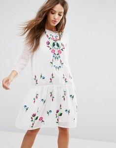 Летнее платье с вышивкой Y.A.S - Мульти