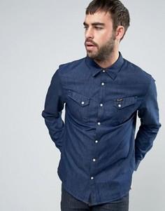 Джинсовая рубашка с карманами Wrangler - Синий