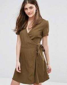 Платье с запахом в стиле милитари Jack Wills - Зеленый