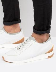 Замшевые кроссовки Hudson London Sime - Белый