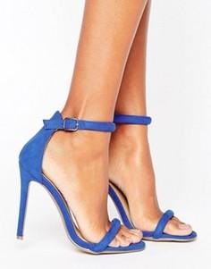 Сандалии на каблуке Missguided - Синий