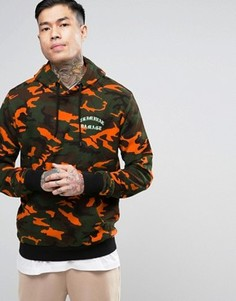 Criminal Damage Hoodie In Camo Print - Оранжевый