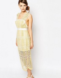 Кружевное платье миди без рукавов Alice McCall - Желтый