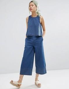 Широкие джинсовые брюки ASOS - Синий