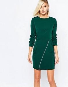 Цельнокройное платье с молнией на юбке The Laden Showroom X Meekat - Зеленый