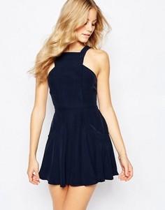 Короткое приталенное платье Finders Keepers - Синий