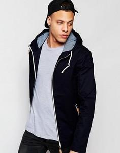 Куртка с капюшоном и завязкой Brave Soul - Темно-синий