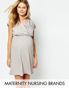 Платье-рубашка для кормления Mamalicious - Серый Mama.Licious