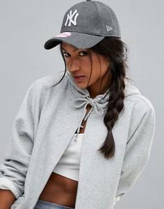 Трикотажная кепка New Era 9Forty New York Yankees - Серый