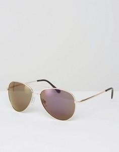 Солнцезащитные очки‑авиаторы с зеркальными стеклами Missguided - Фиолетовый