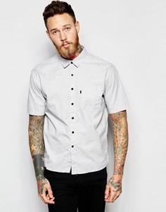Cерая рубашка классического кроя с короткими рукавами и карманом Levis Line 8 - Серый