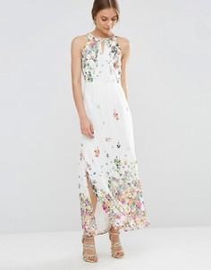 Платье макси с цветочным принтом Uttam Boutique - Кремовый