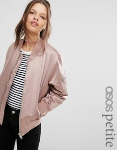 Бомбер ASOS PETITE Ultimate - Розовый