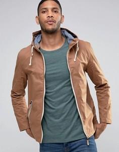 Куртка с капюшоном и фиксаторами-тогл Brave Soul - Коричневый