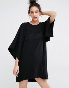 Платье с кружевной вставкой Essentiel Antwerp Misericordia - Черный