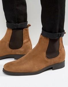 Замшевые ботинки челси Selected Homme Oliver - Коричневый
