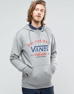 Серое худи с логотипом Vans Culver VA2YO602F - Серый