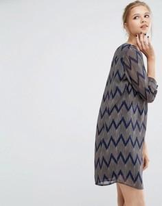 Свободное платье Y.A.S Venya - Мульти