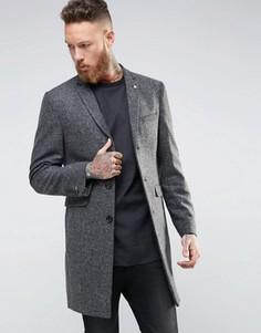 Пальто с шевронным узором Noose & Monkey - Серый