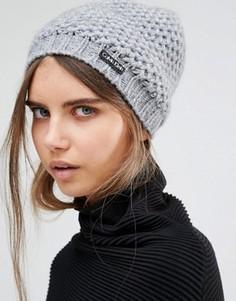 Серая вязаная шапка‑бини Calvin Klein - Серый