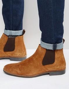 Светло-коричневые замшевые ботинки челси Red Tape - Рыжий