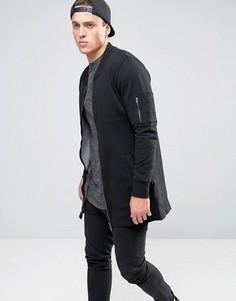 Длинная трикотажная куртка Brave Soul - Черный
