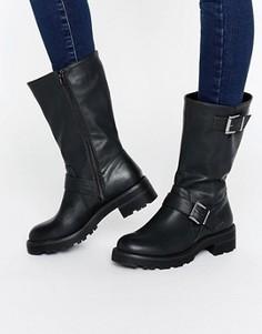 Байкерские ботинки с пряжками Head Over Heels By Dune Ria - Черный