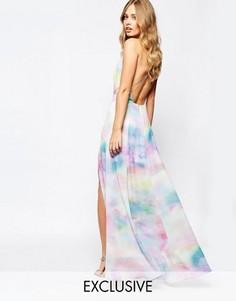 Платье макси с акварельным принтом Fame and Partners Valentina Dream - Мульти