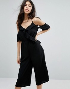 Комбинезон с юбкой-брюками Influence - Темно-синий