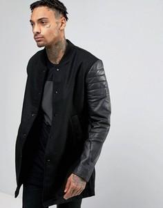 Куртка с кожаными рукавами Religion - Черный