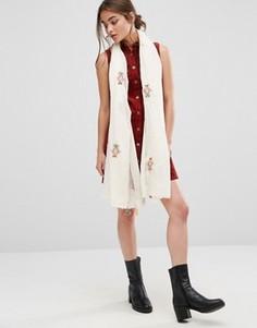 Легкий шарф с вышивкой Nali - Мульти
