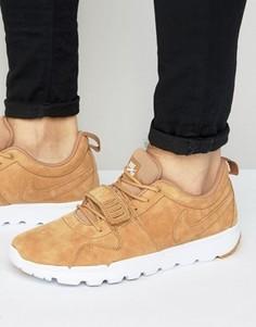 Бежевые кроссовки премиум Nike SB Trainerendor 812975-204 - Бежевый