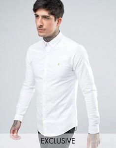 Белая оксфордская рубашка скинни эксклюзивно для Farah - Белый