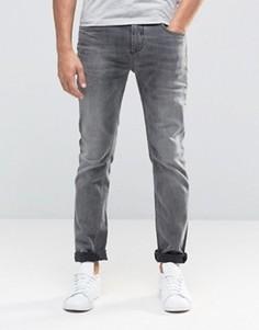 Серые выбеленные узкие джинсы стретч Selected Homme - Серый