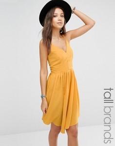 Платье миди для высоких на бретельках Glamorous Tall - Желтый