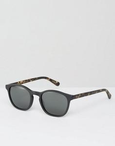 Черные матовые солнцезащитные очки в круглой оправе Raen St Malo - Черный