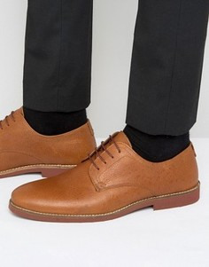 Red Tape Derby Shoes in Tan Milled Leather - Рыжий