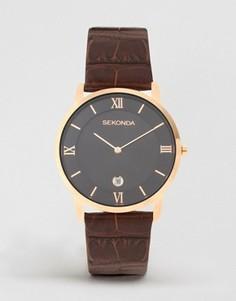 Часы с коричневым ремешком Sekonda 3207.27 - Коричневый
