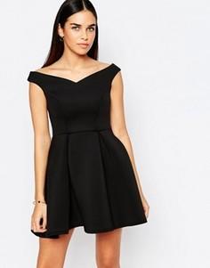 Приталенное платье в складку Jessica Wright Amelie - Черный