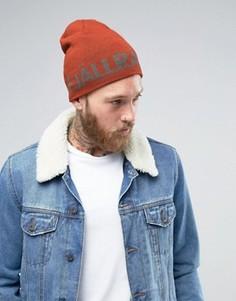 Коричневая шапка-бини Fjallraven Are - Коричневый