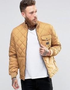 Желтая стеганая куртка Lee Dijon - Желтый