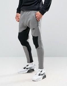 Серые флисовые джоггеры Nike Tech 805658-063 - Серый