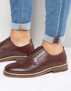 Красные кожаные туфли на шнуровке ASOS - Красный