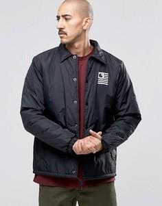 Спортивная куртка с подкладкой из искусственного меха от Carhartt WIP State - Черный