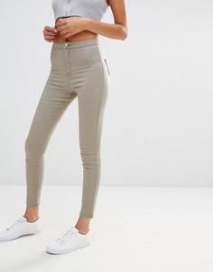 Облегающие джинсы с завышенной талией Missguided Vice - Зеленый
