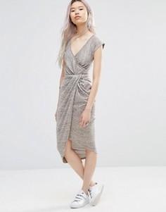 Платье с асимметричной кромкой Wal G - Бежевый